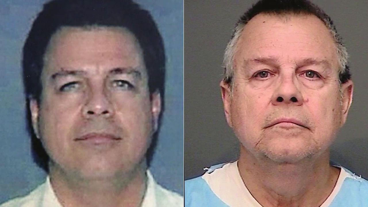 Lamberto Ricci Castillo, pictured as he appears now and in the 1990s, is a suspect in a 1994 killing of two men in Huntington Beach.