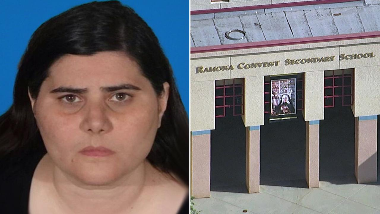 Alhambra police said 42-year-old Diana Wendel, a teacher at Ramona Convent Secondary School, was arrested on suspicion of having a sexual relationship with a student.