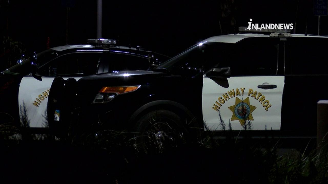 Police are looking for two men who robbed a CHP dispatcher while she was walking from the Rancho Cucamonga dispatch center to a nearby park and ride.