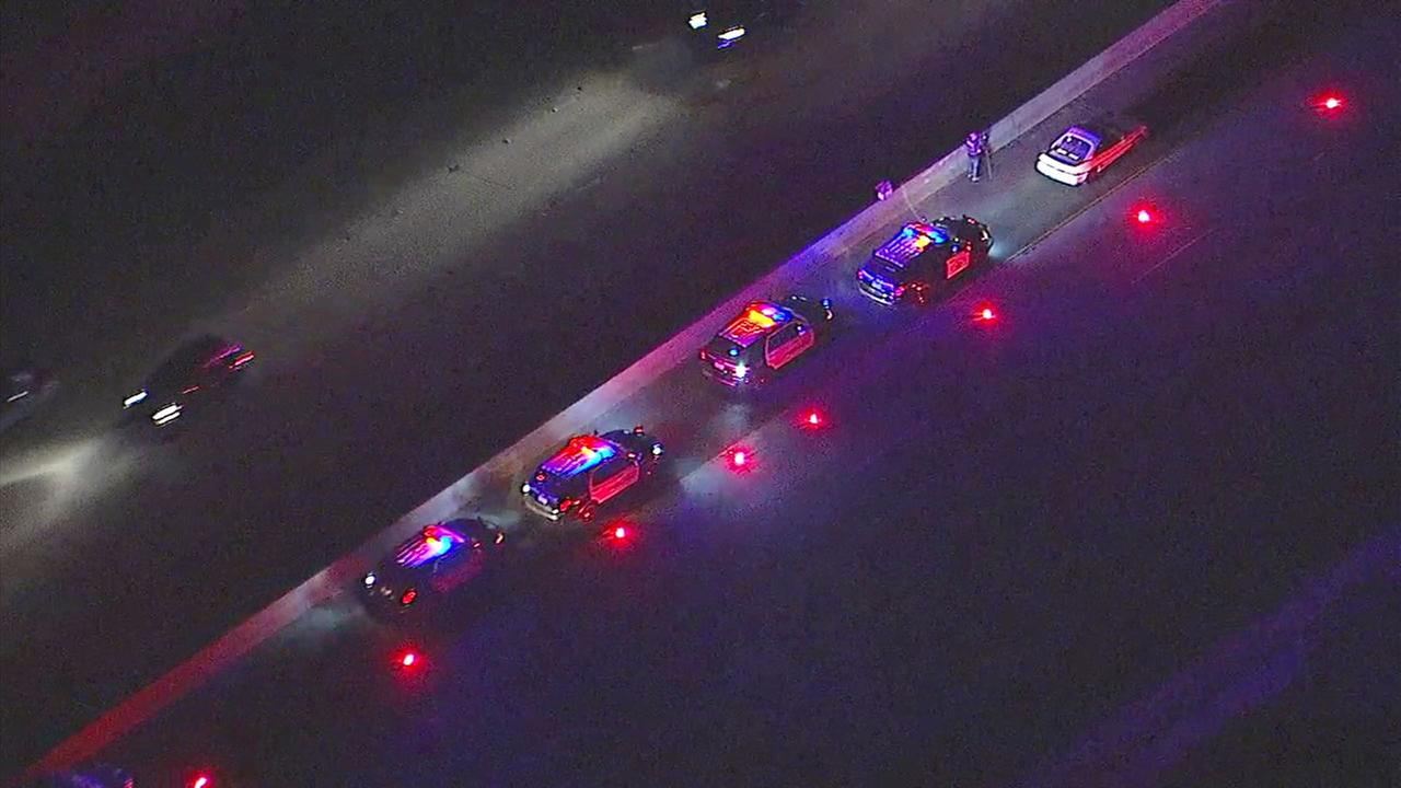 A body was found on the southbound 605 Freeway in Baldwin Park on around 10 p.m. on Tuesday, May 23, 2017.