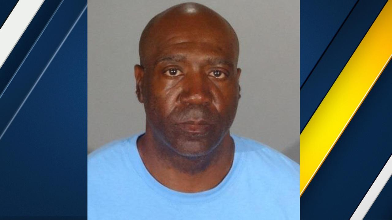 Olympic medalist Danny Lee Harris, 51, was arrested by San Gabriel police Friday, June 2, 2017, on charges of contact with a minor with the intent to commit a sexual offense.