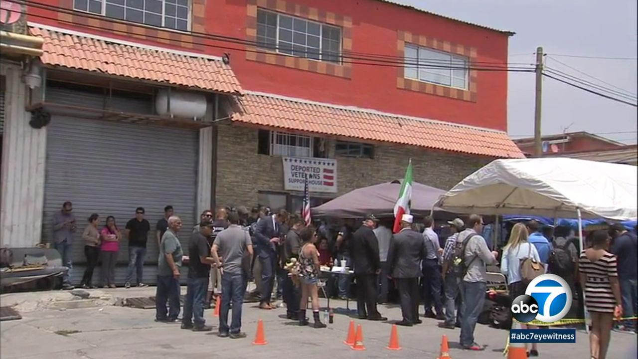 The Deported Veterans Support Home is shown in Tijuana, Mexico.