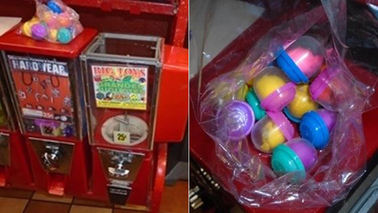 A toy purchased from a vending machine in a Bell Gardens restaurant was thought to contain cocaine, but turned out to be harmless, police said.