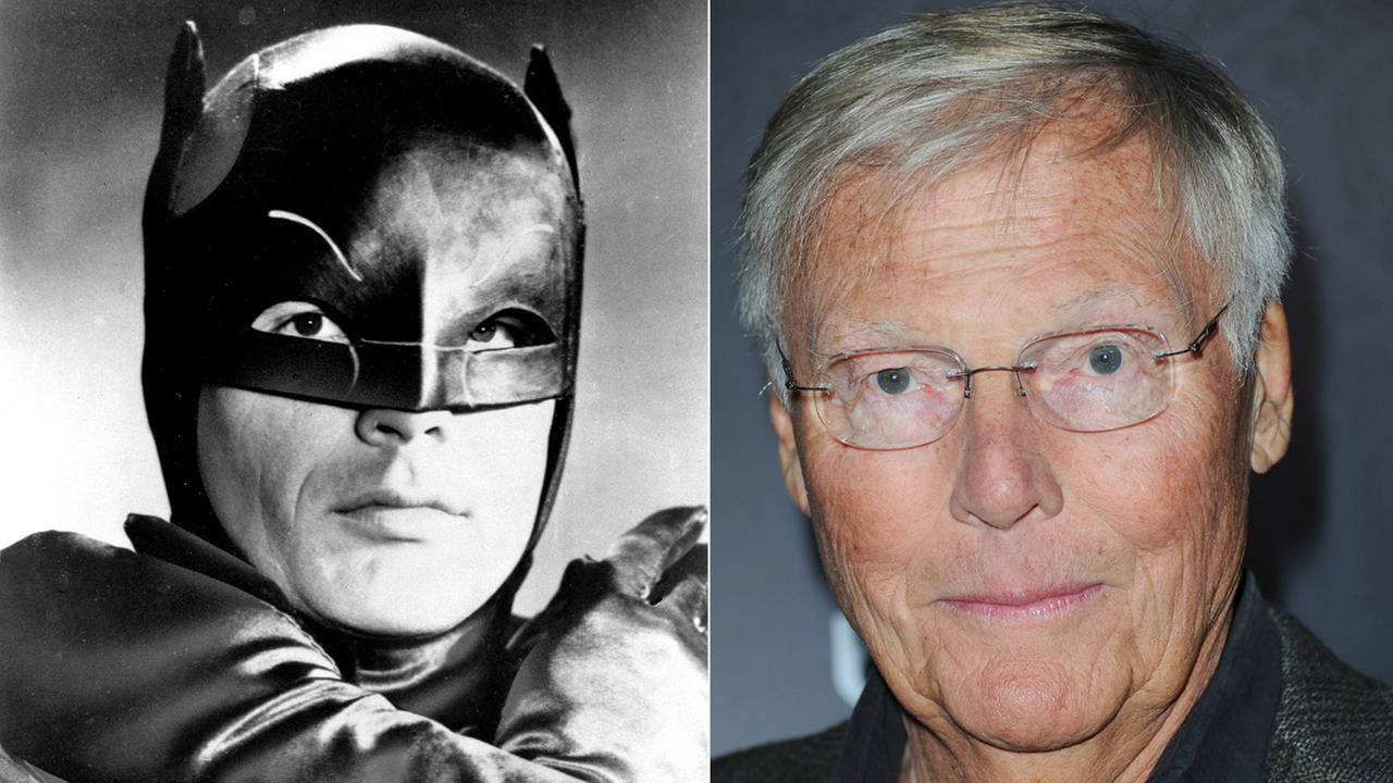 Actor Adam West, shown in costume on January 23, 1966, stars as the Caped Crusader on the new Batman television series.In a Nov. 17, 2012 file photo, he arrives at Variety Power.
