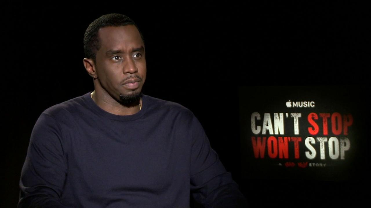 Sean P. Diddy Combs discusses his new film Cant Stop, Wont Stop: A Bad Boy Story that takes an inside look at his record label Bad Boy Records.