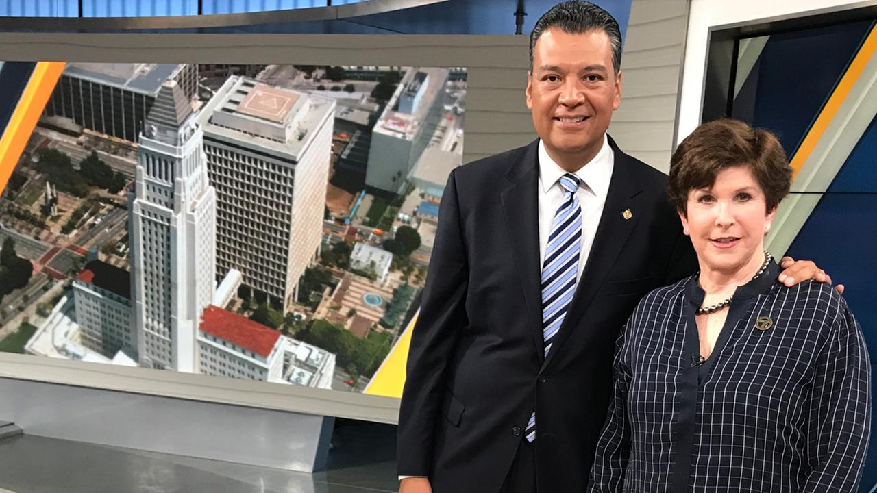 California Secretary of State Alex Padilla was interviewed by Eyewitness Newsmakers host Adrienne Alpert.