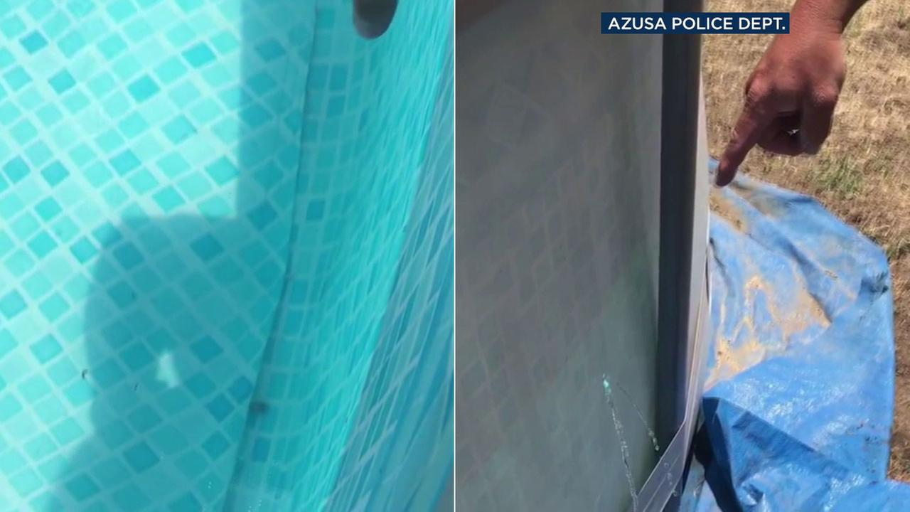 A bullet shot into the air on July Fourth was found at the bottom of an Azusa familys pool.