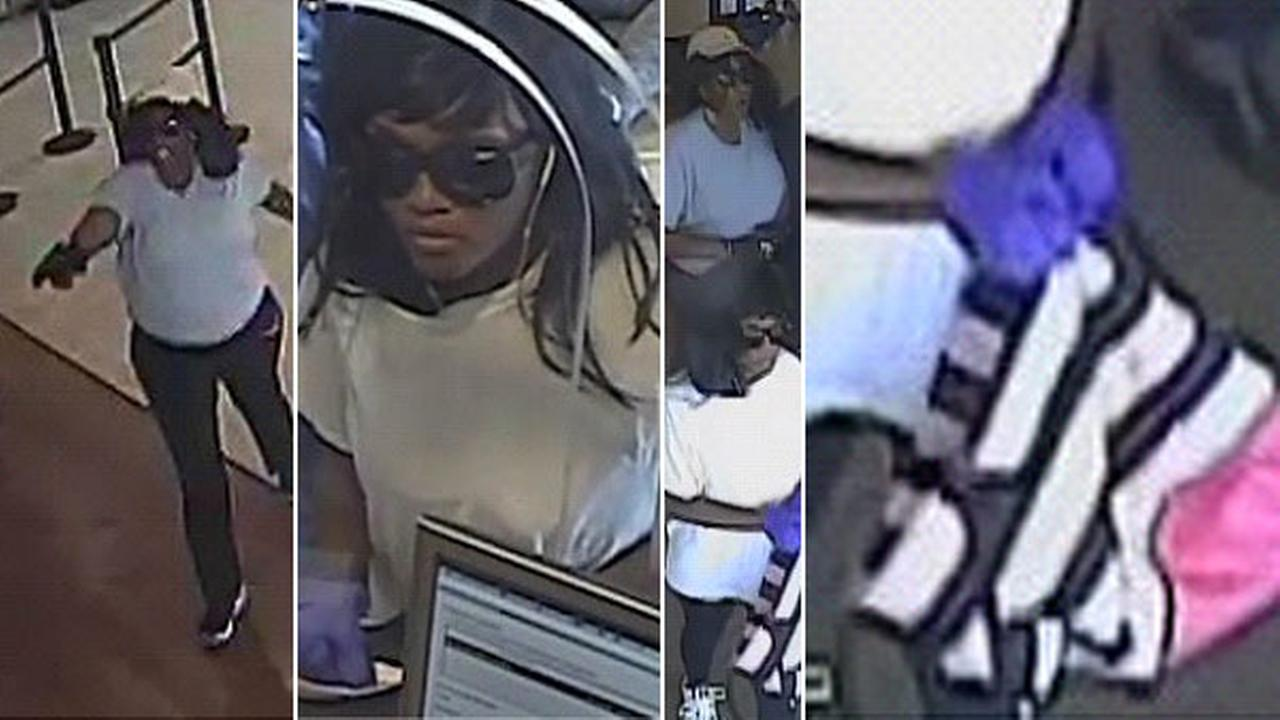 The FBI released these images of two bank robbery suspects in North Hills on Friday, July 7, 2017.