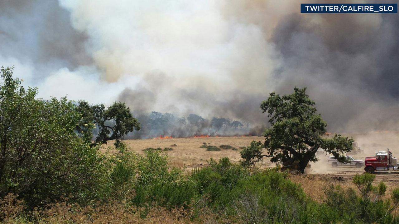 Cal Fire In San Luis Obispo Tweeted Out An Image Of A Fast Moving Blaze