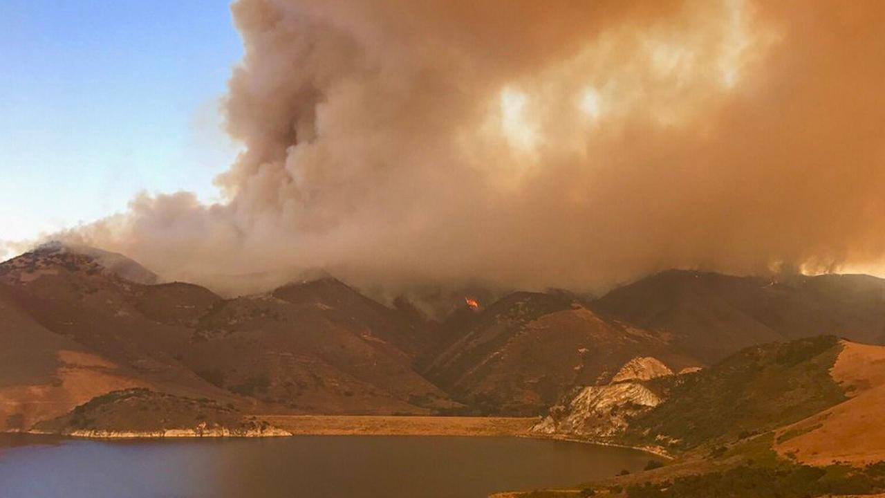 The massive Alamo Fire had burned 19,000 acres in San Luis Obispo and Santa Barbara counties as of Saturday, July 8, 2017.