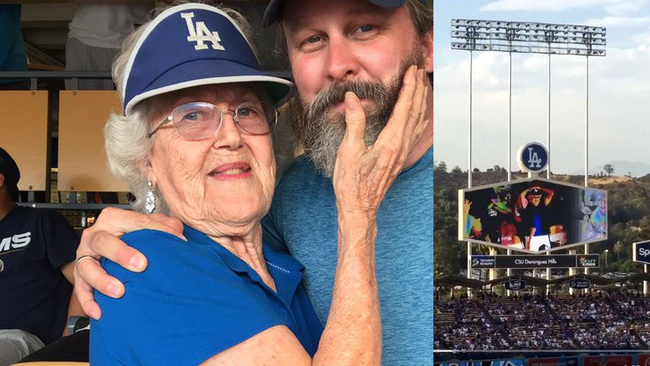 Granny flashes crowd at Dodgers game | 96.1 KISS
