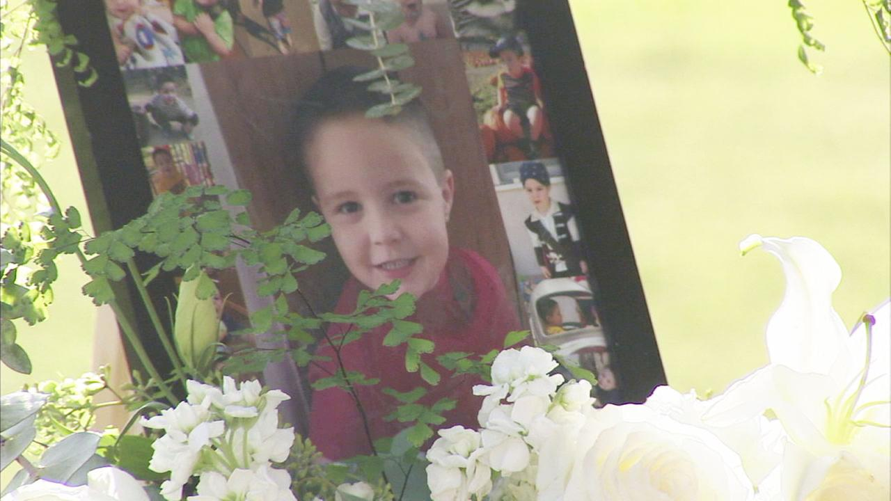 A photo of 5-year-old Aramazd Andressian Jr. during his memorial at the Los Angeles County Arboretum and Botanic Garden on Wednesday, July 19, 2017.