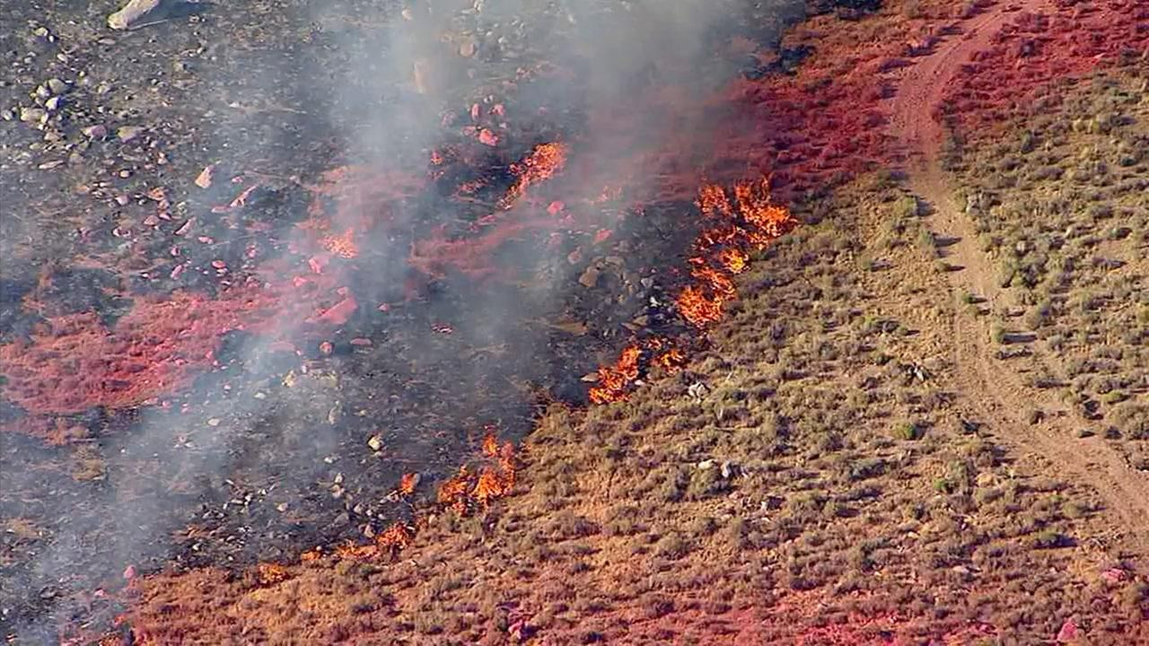 A fast-moving fire burned 55 acres of brush and forced evacuations in Lucerne Valley.