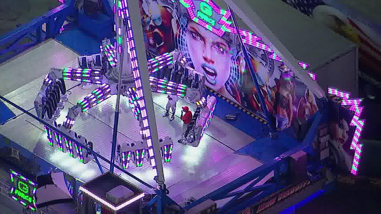 The G Force ride at the Orange County Fair was shut down and given an emergency inspection after a fatal accident at a similar attraction in Ohio.