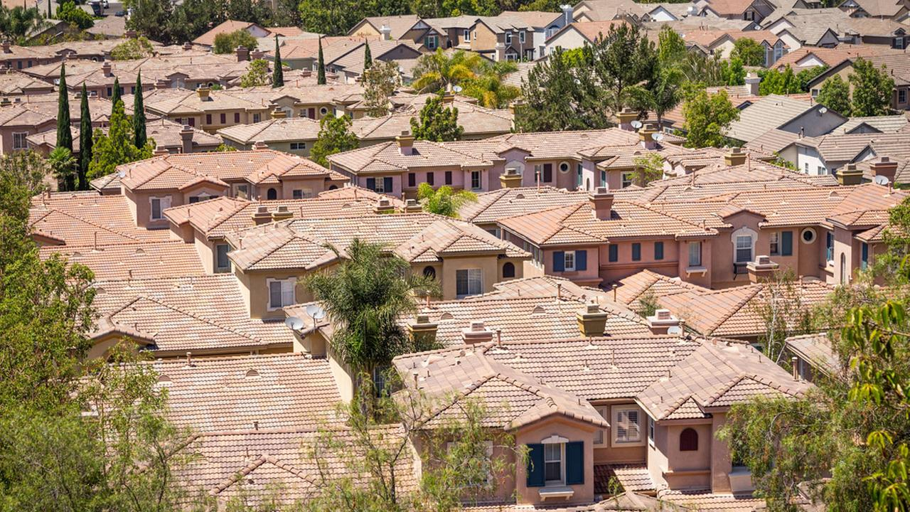 Spanish-style homes in Aliso Viejo are shown in a stock image.