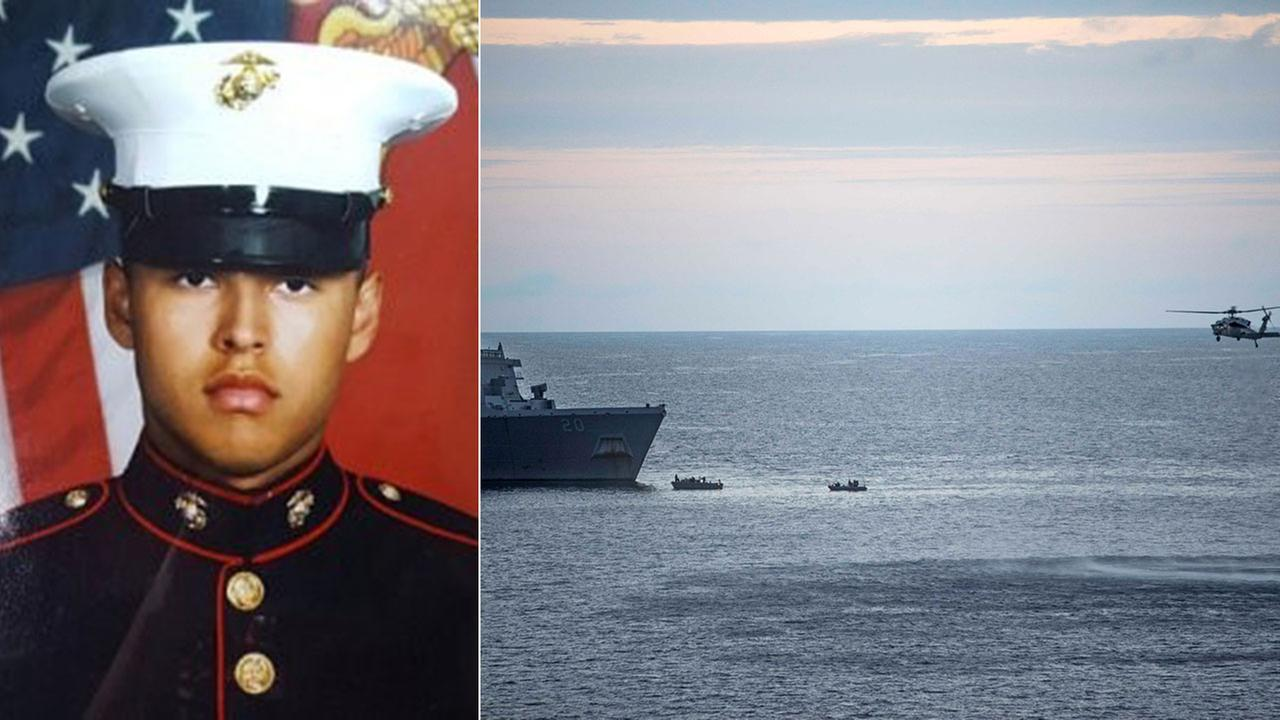 Rescue crews are searching for the bodies of three Marines killed in a training accident off the coast of Australia, including Pfc. Ruben Velasco, 19, of Los Angeles.