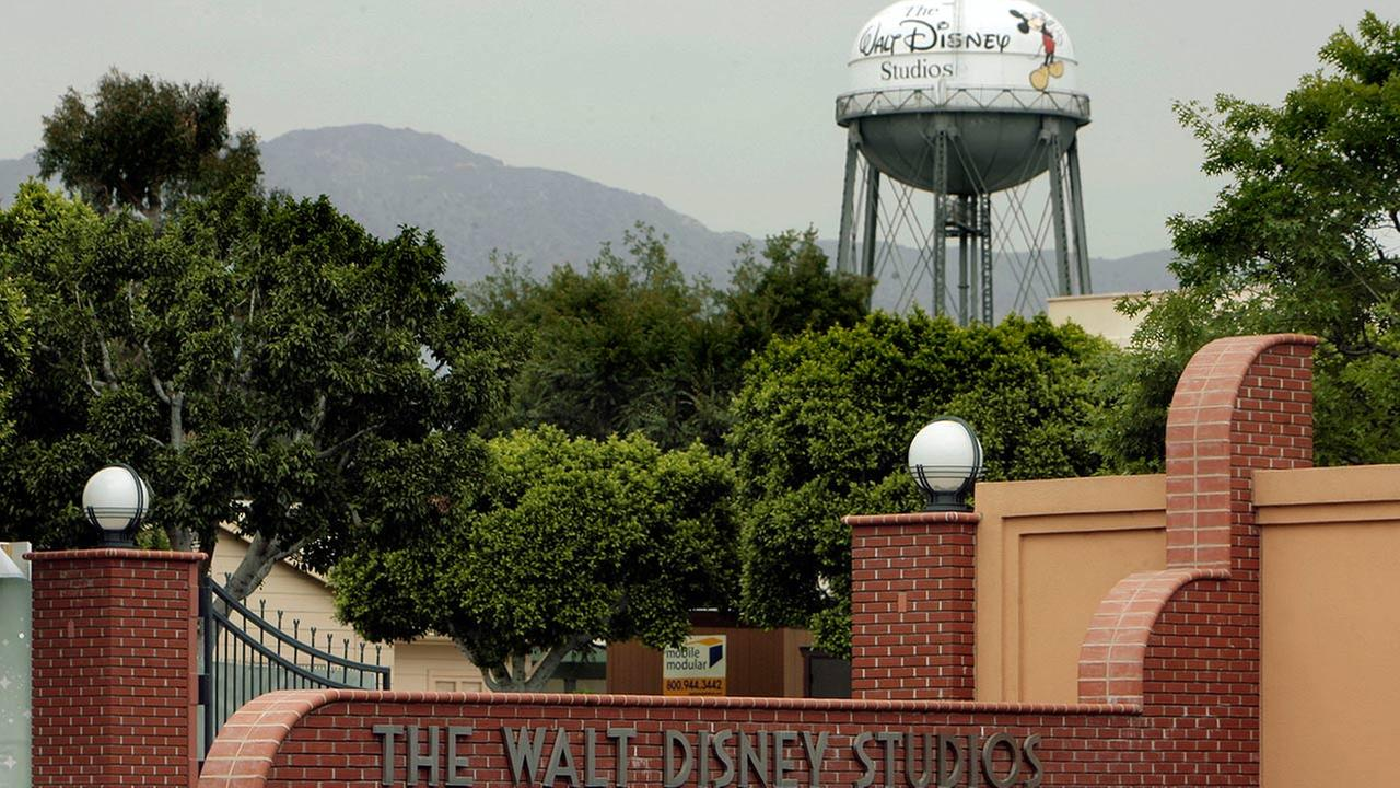 A water tower on the grounds of The Walt Disney Studios features the companys name Monday, May 5, 2008, in Burbank, Calif.