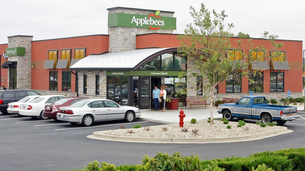 This Applebees location was part of a concept trial to test new logos and restaurant designs.