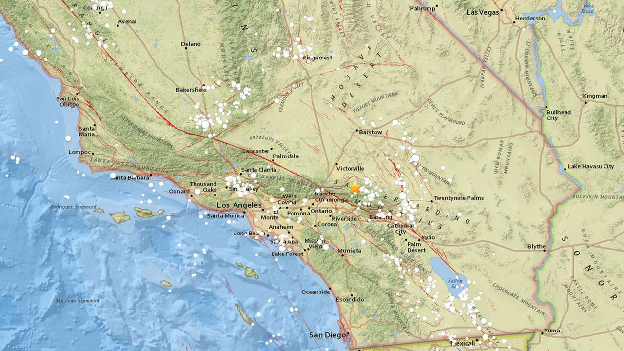 An earthquake with a preliminary magnitude 3.4 struck near Running Springs, according to the U.S. Geological Survey.