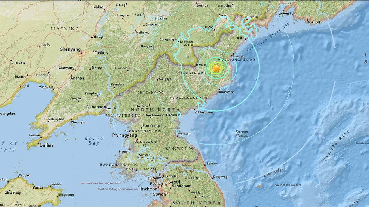 South Korean officials say they have detected an artificial 5.6 magnitude quake in North Korea and are analyzing whether Pyongyang has conducted its sixth nuclear test.