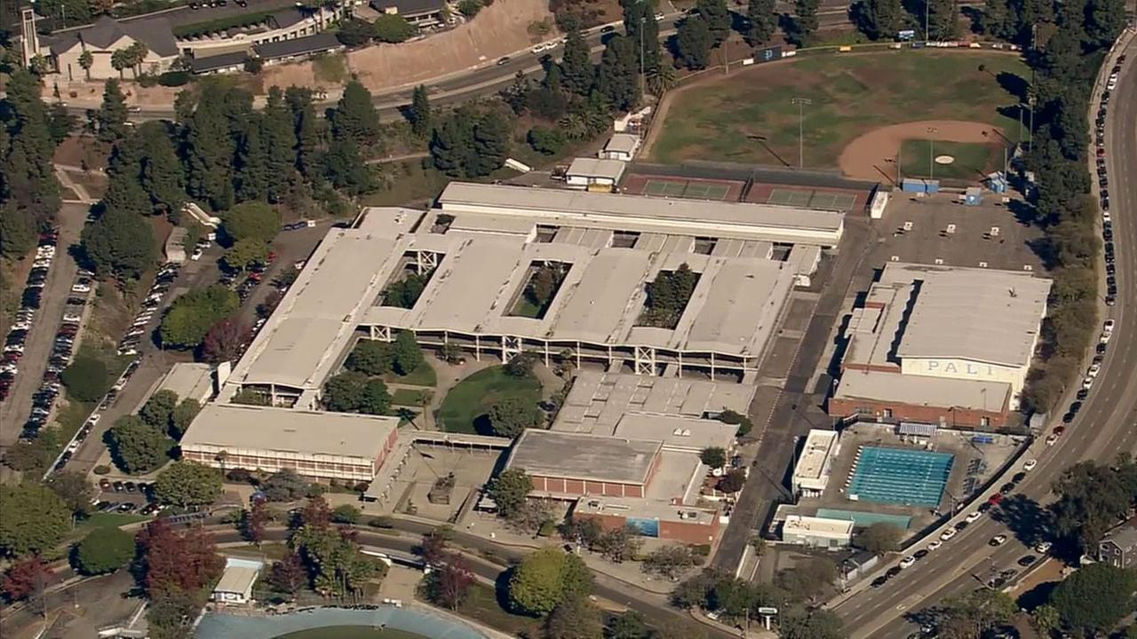 The Palisades Charter High School campus is seen in this 2014 photo.