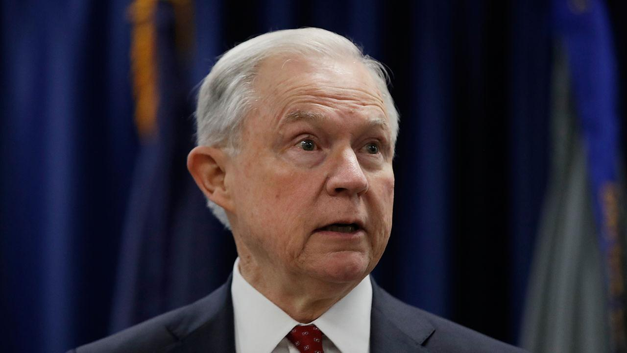 Attorney General Jeff Sessions speaks at the U.S. Attorneys Office in Philadelphia, Friday, July 21, 2017.