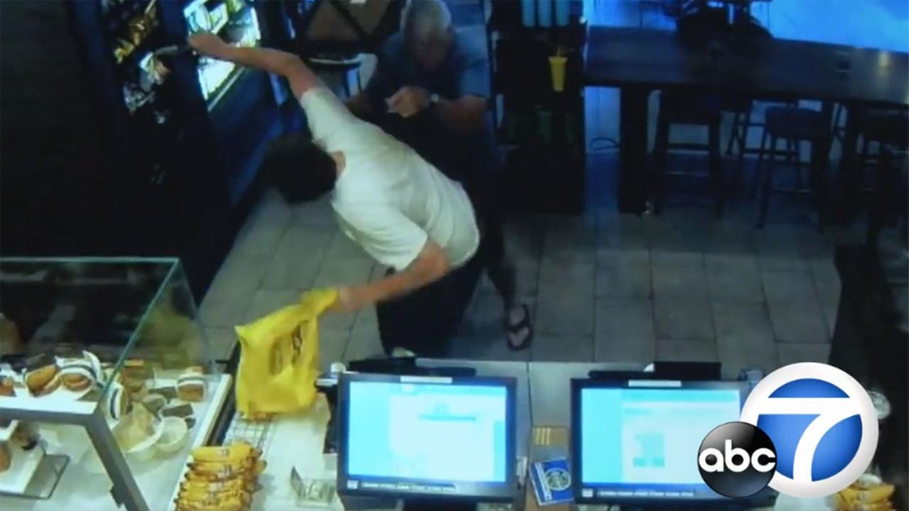 A good Samaritan who stepped in to stop an armed robbery at a Starbucks in Fresno may be facing a lawsuit from the suspect, who suffered stab wounds in the struggle with the man.