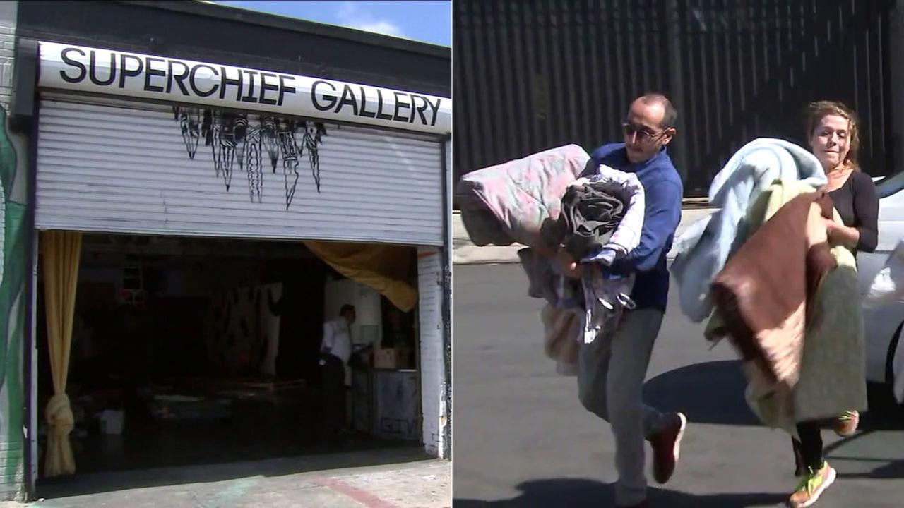 Southern Californians are bringing blankets and other donations to the Superchief Gallery in Los Angeles to help victims of the Mexico earthquake.
