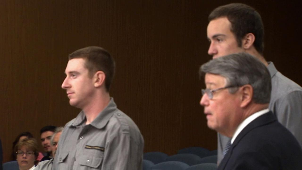 Anthony Edward Janow, left, and Jameson Brooks Witty, right, appear in court in this undated file photo.