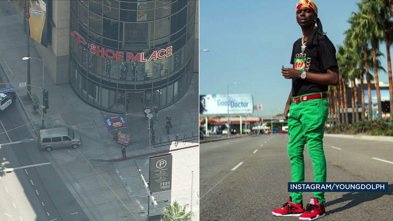 Rapper Young Dolph was shot at a Hollywood shoe store on Tuesday, Sept. 26, 2017.