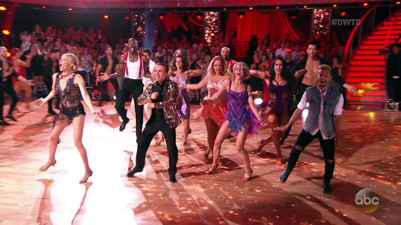 One more celebrity was eliminated from Dancing with the Stars after the couples showed their sexy sides with Latin-themed dances.