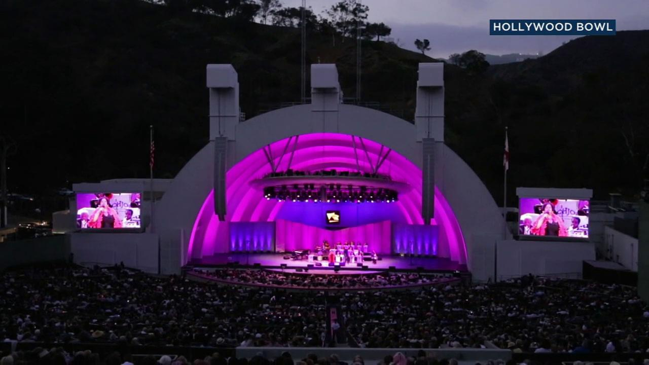 A concert at the Hollywood Bowl is shown in an undated file image.