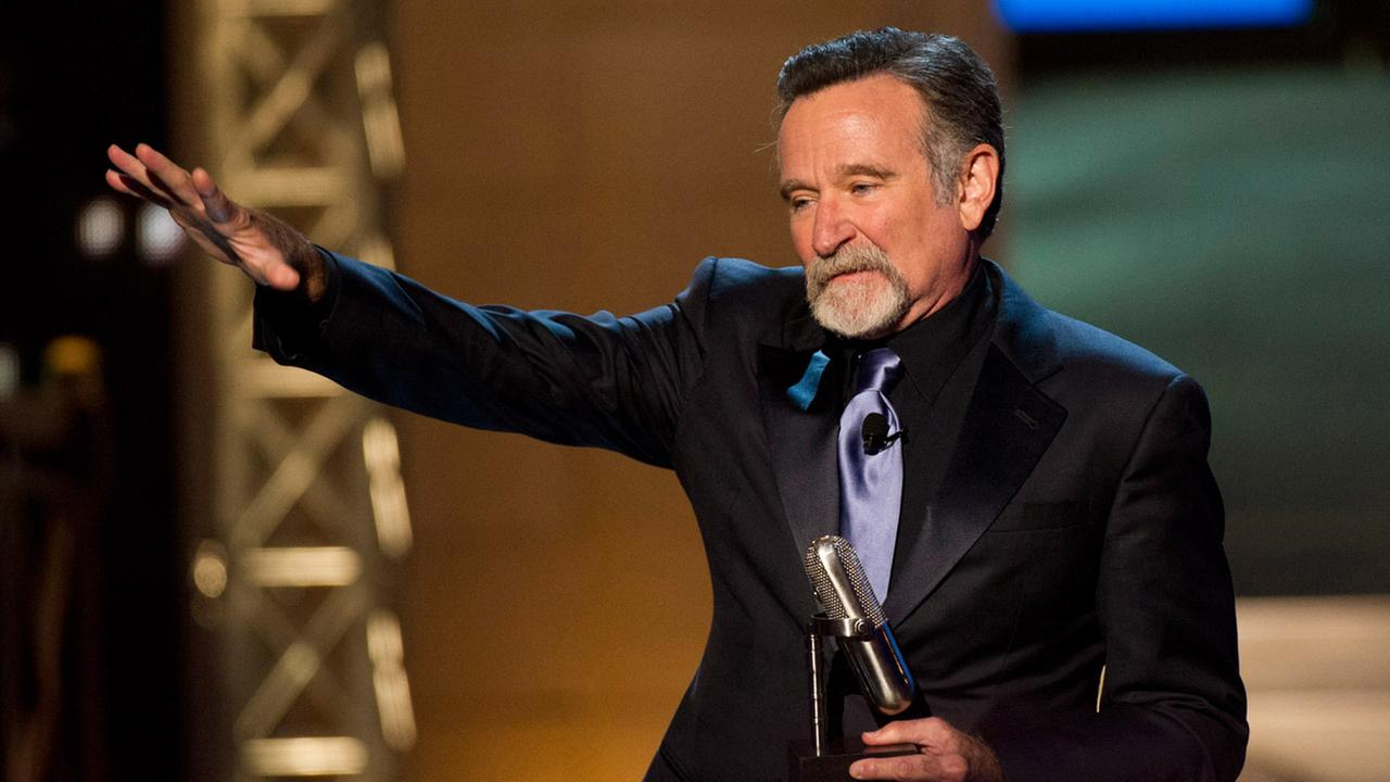 Robin Williams appears onstage at The 2012 Comedy Awards in New York, Saturday, April 28, 2012.