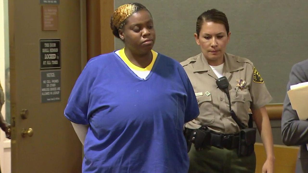 Qaneak Shaney Cobb, seen in this undated file image from court, has pleaded no contest to second-degree murder in the DUI death of Los Angeles police officer Christopher Cortijo.