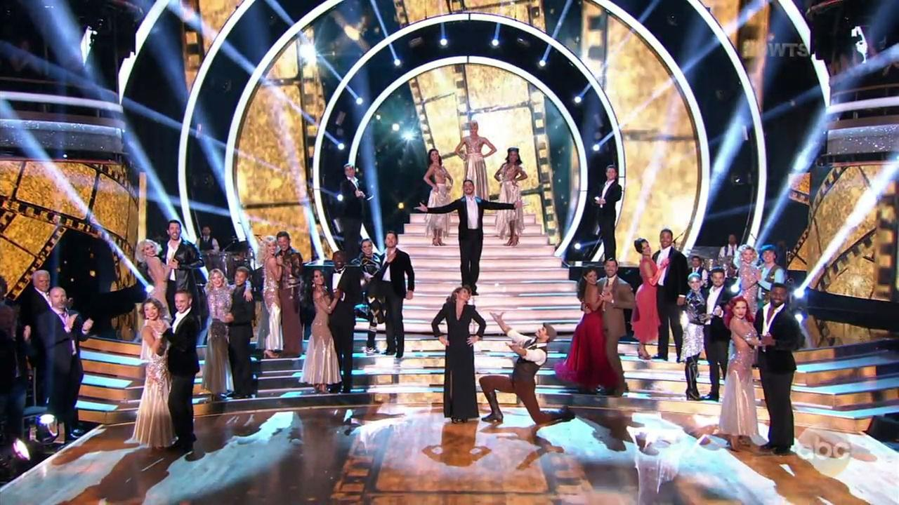 Dancing with the Stars celebrated the silver screen as the nine couples were pared down to eight and one perfect score was awarded.