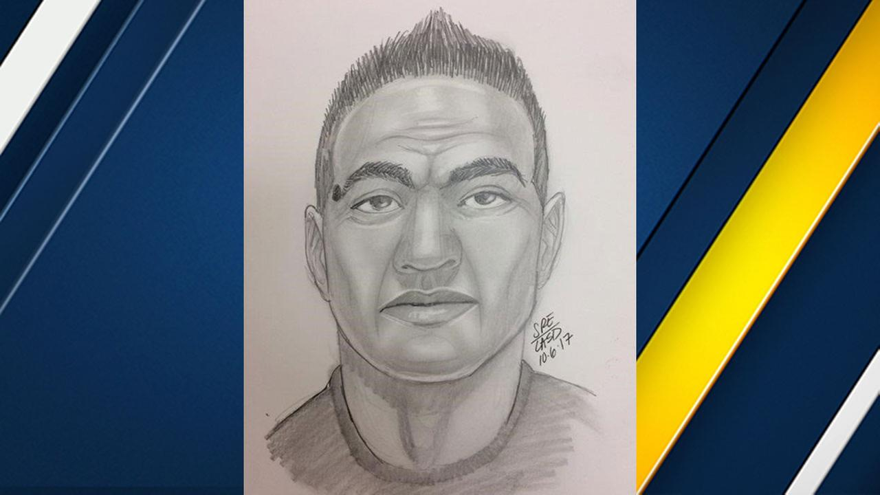 Investigators released this sketch of a suspect in the attempted kidnapping of a 12-year-old girl reported in Santa Clarita on Oct. 4, 2017.