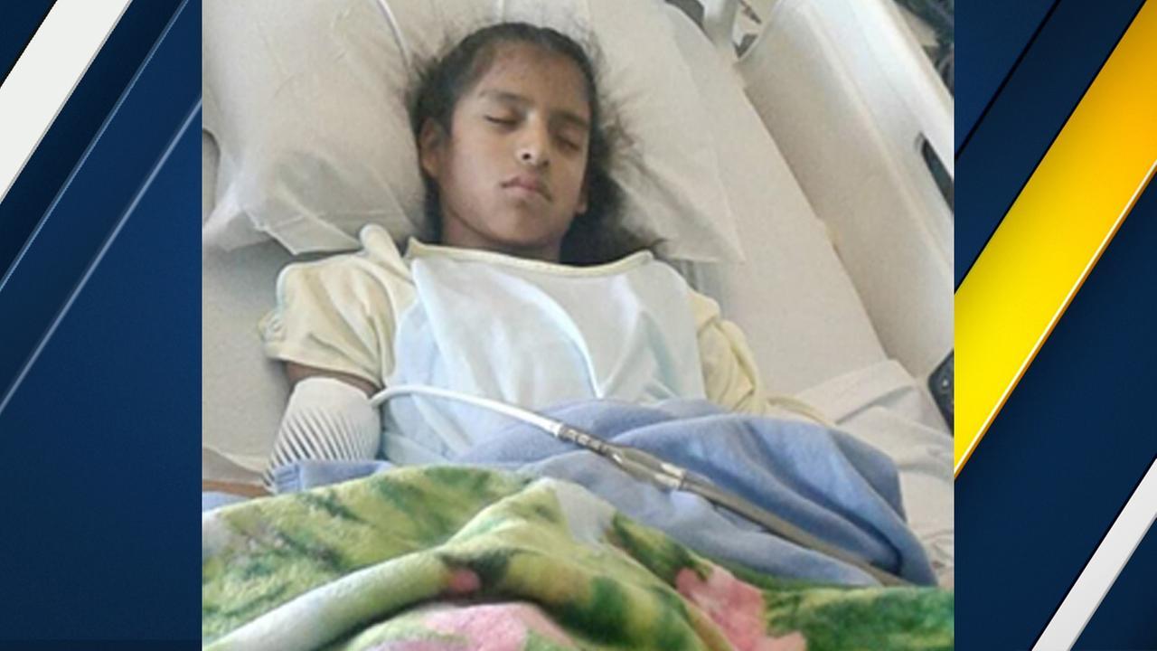 Rosa Maria Hernandez, 10, was taken from the Texas border city of Laredo to a Corpus Christi childrens hospital.