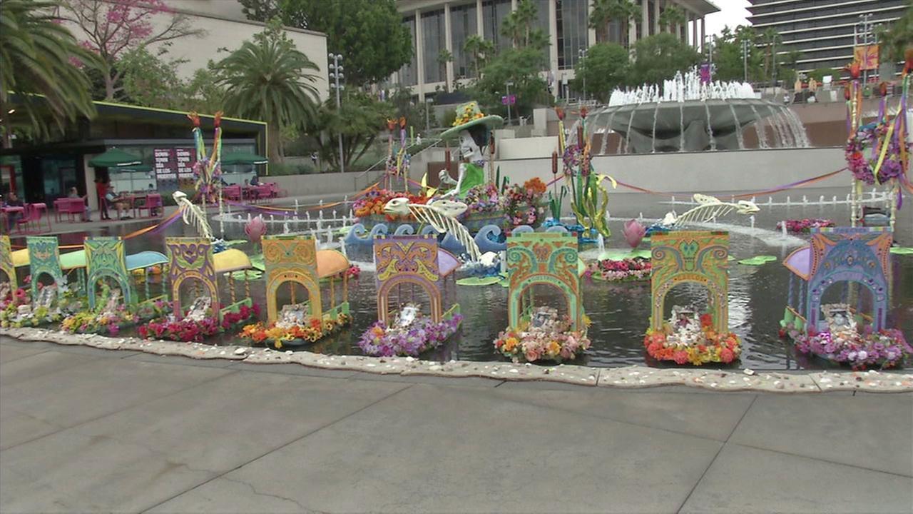 Altars are set up in downtown Los Angeles to mark Dia de los Muertos.