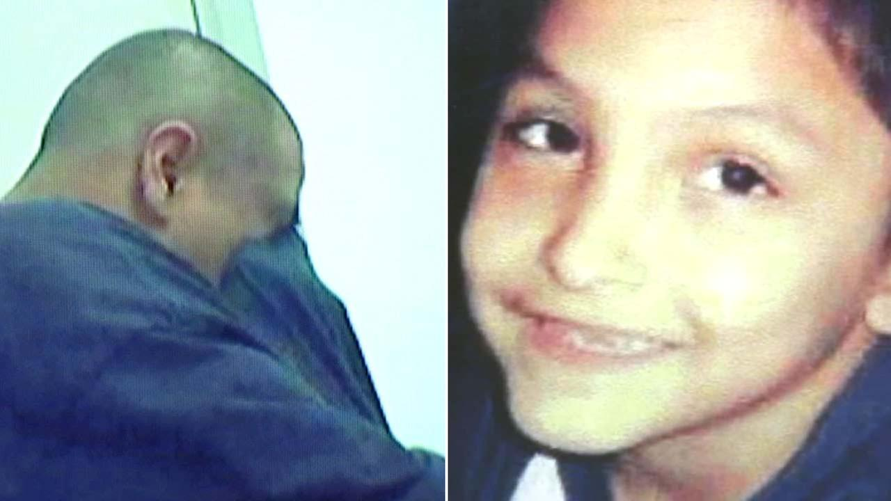 Video of suspect Isauro Aguirre crying during an interview about the death of his girlfriends 8-year-old son.