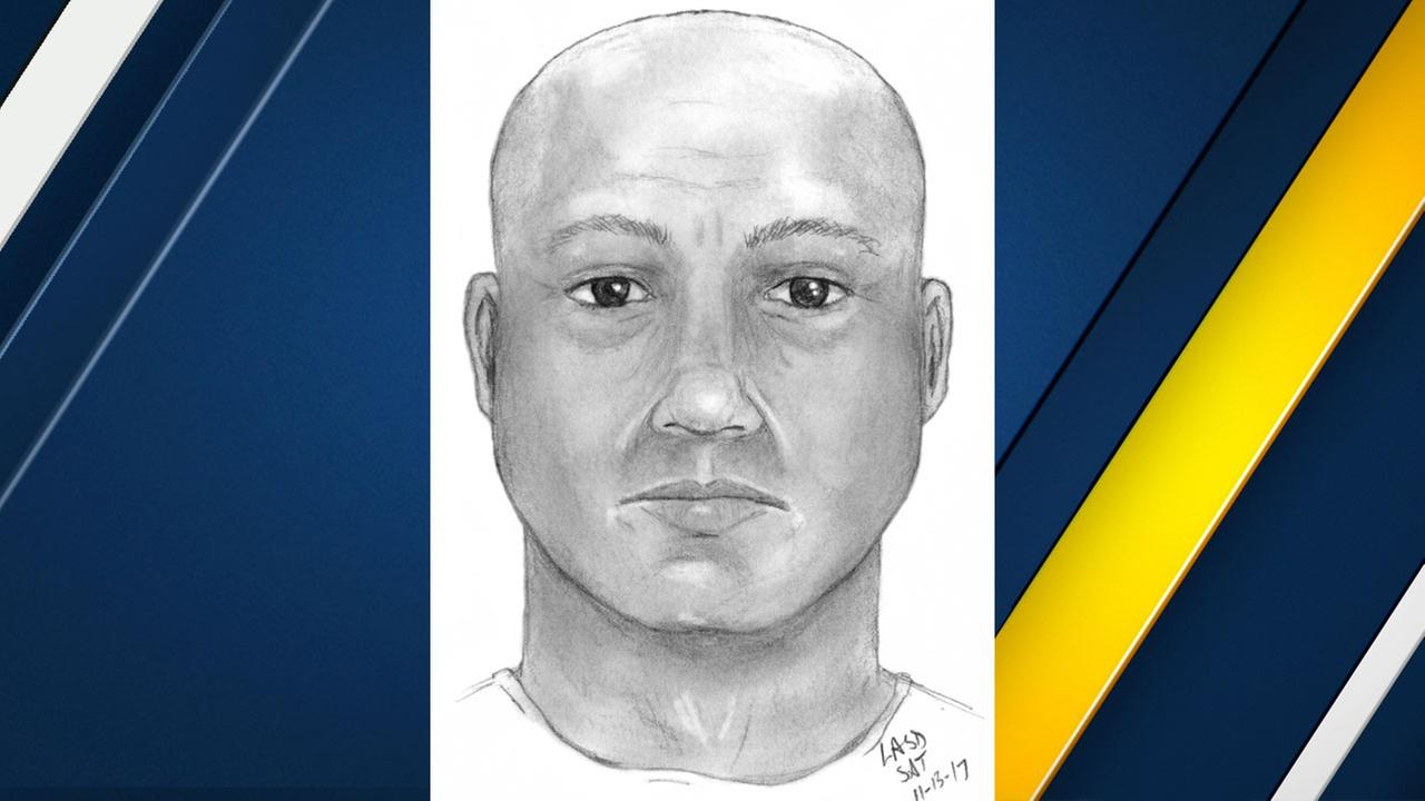 Authorities released a sketch of a man they say impersonated a police officer to sexually assault a woman in Santa Fe Springs on Nov. 7, 2017.