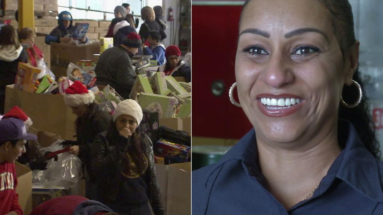 Princess Isreal, a Los Angeles County Fire Department employee and mother of three, volunteers with ABC7s Spark of Love in part because of her own history in foster care.