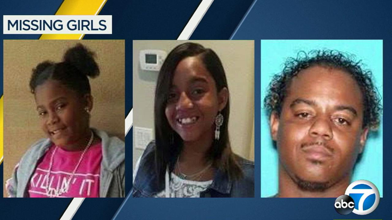 Antelope Valley sheriffs detectives are looking for two missing sisters, Relinne and Derinne Harris, who may be with their father, Deshaun Carter.