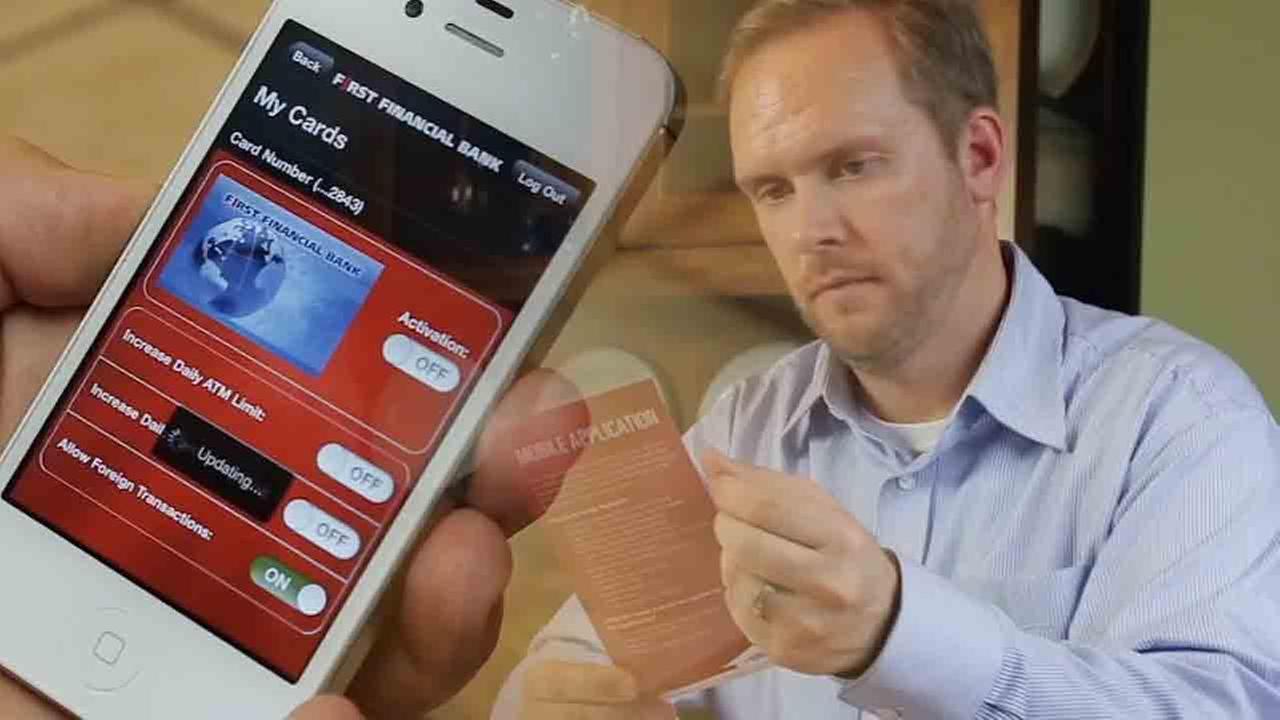 Smartphone apps can lock credit, debit cards