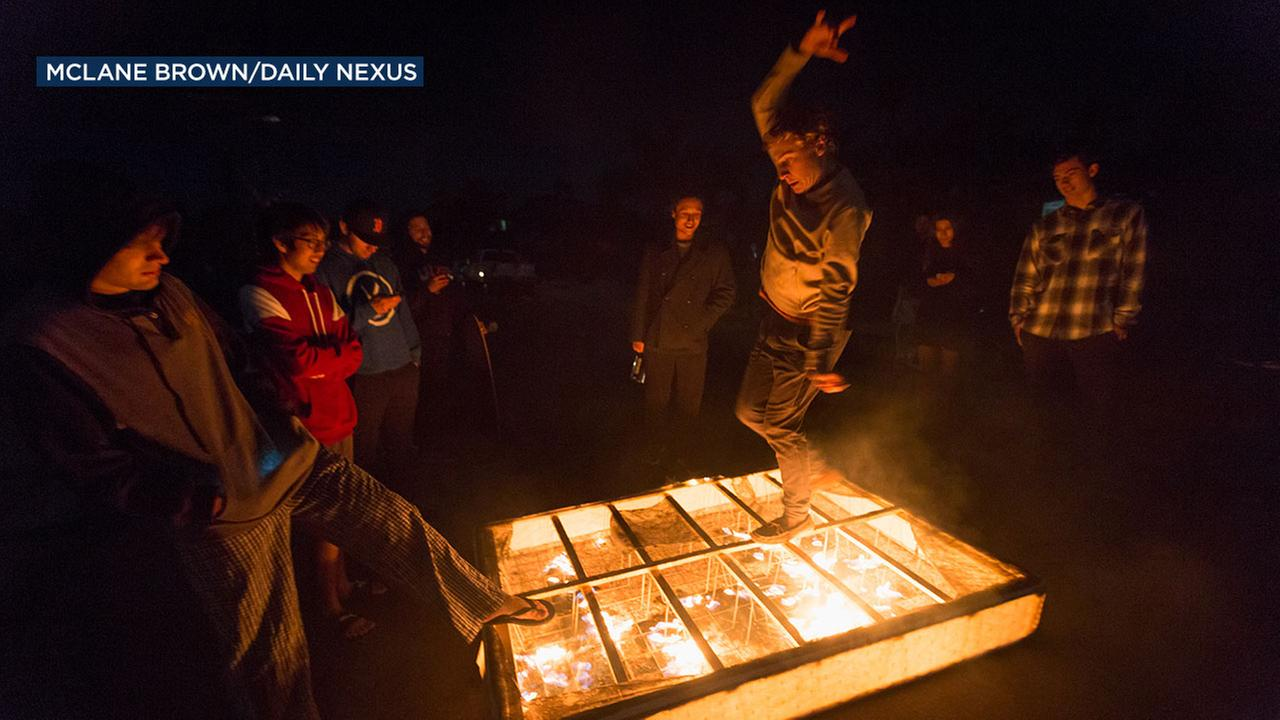 Amid severe fire warnings in SoCal, people gathered in Isla Vista during a power outage and lit fireworks and set objects on fire at an impromptu gathering.