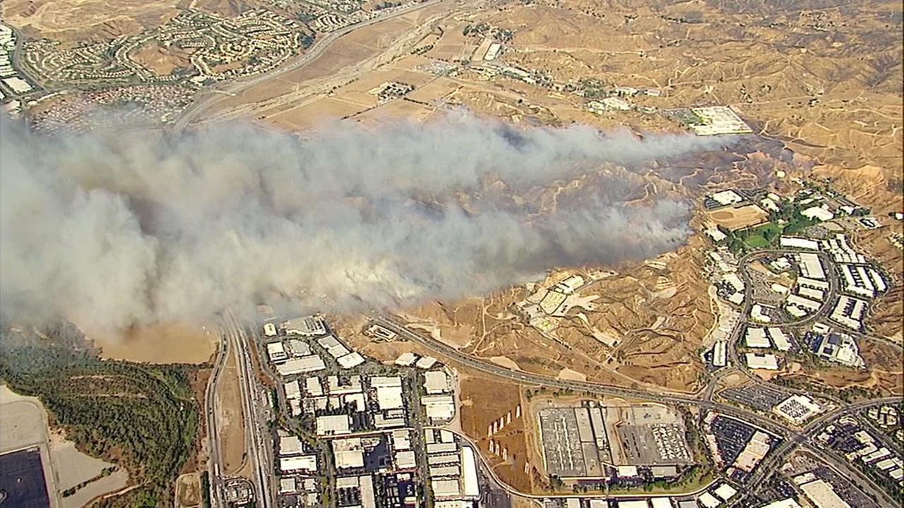 An image from AIR7 HD captured the day the Rye Fire broke out (Tuesday, Dec. 5, 2017) showed plumes of smoke billowing from the burn area.