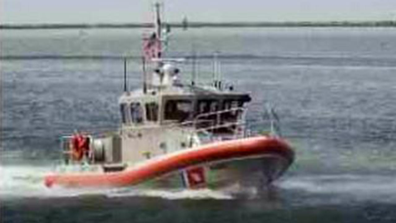 A U.S. Coast Guard boat was sent to search for a missing swimmer near Salt Creek Beach on Saturday, Aug. 23, 2014.