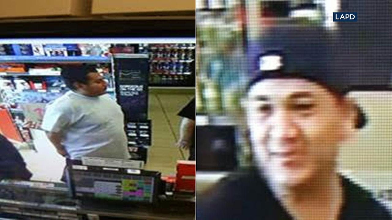 The LAPD is looking for two suspects involved in the attempted murder of a 17-year-old in Arleta on Monday, Dec. 19, 2017.