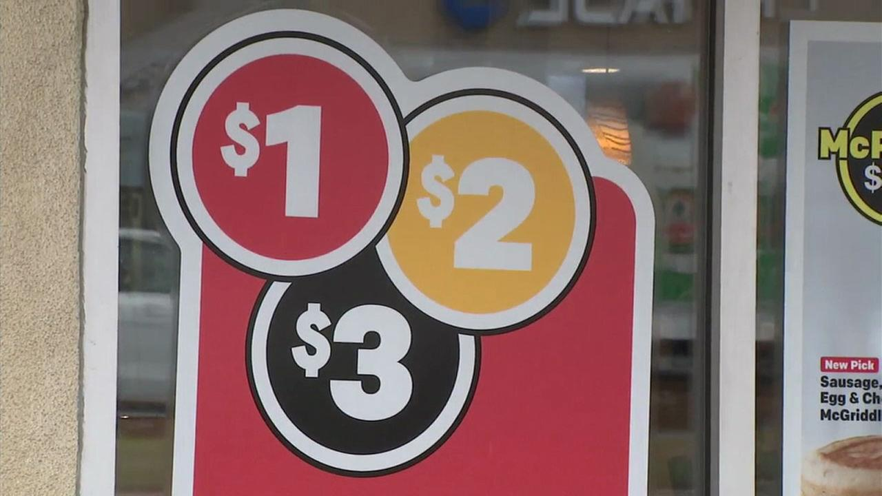 The $1, $2, or $3 menu offered at McDonalds is shown in a photo.