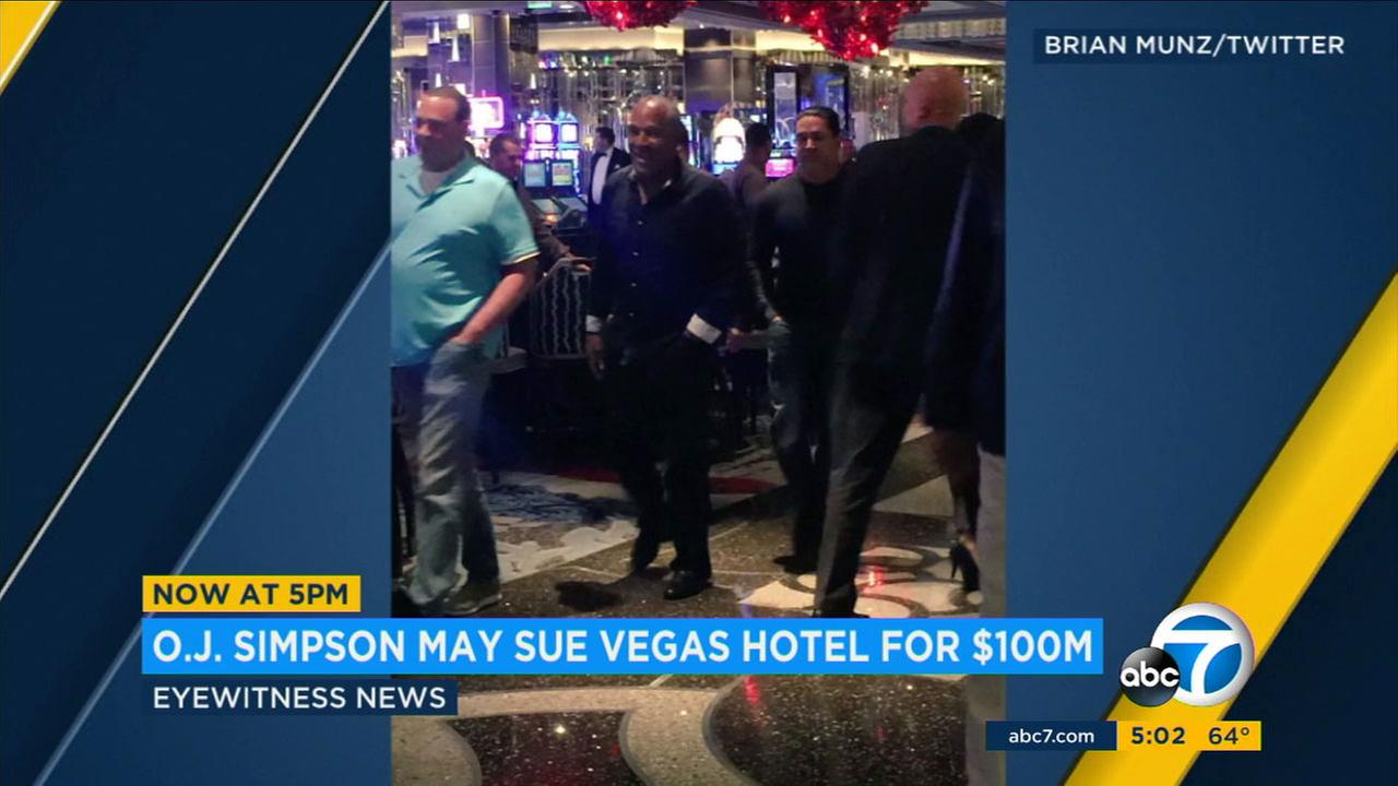 O.J. Simpson was thrown out of the Cosmopolitan Hotel in Las Vegas last year.