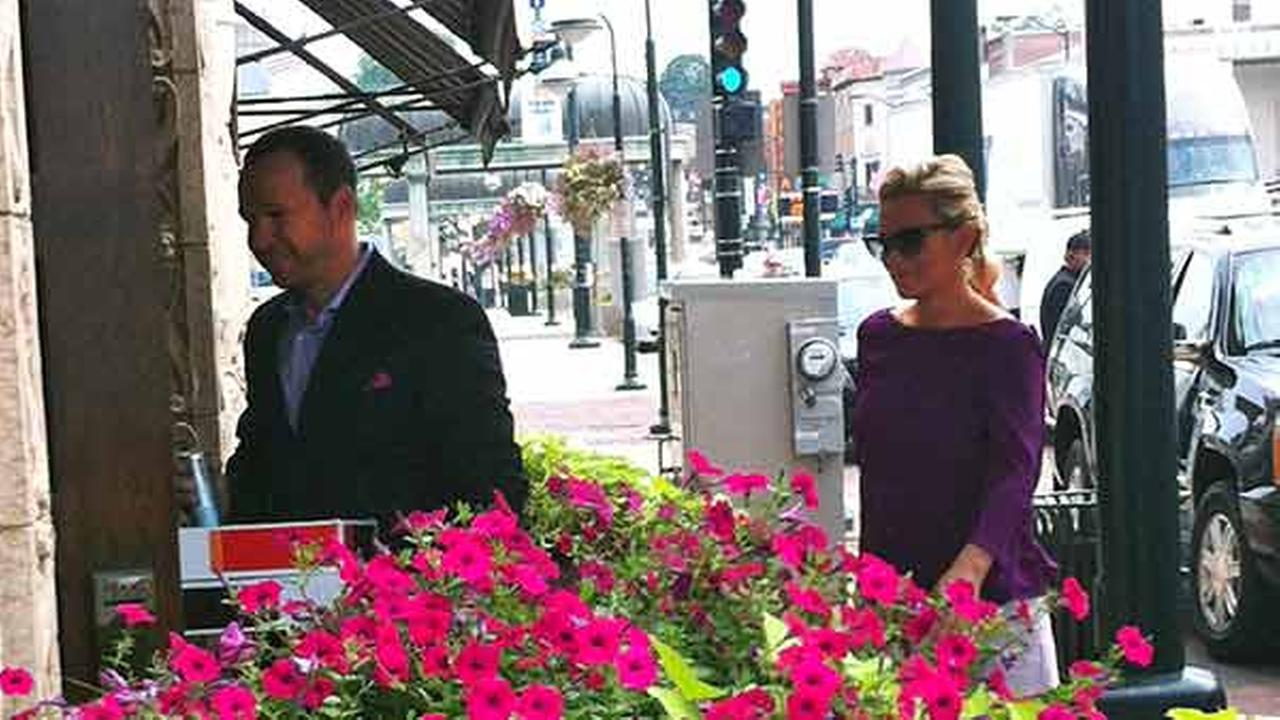 A Kane County Chronicle photo shows Jenny McCarthy and Donnie Wahlberg entering Hotel Baker in St. Charles on Friday, Aug. 29, 2014.